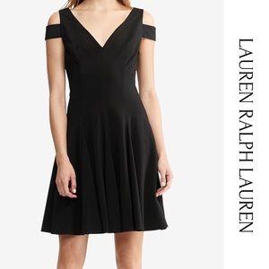Lauren Ralph Lauren Cold Shoulder Black Dress 14